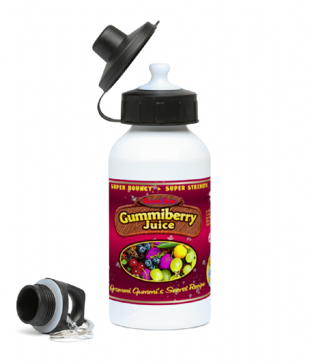 GummiBerry Juice Sports Water Bottle Based on Gummi Bears Cartoon